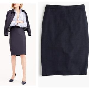 J. Crew Pencil Skirt in Super 120s Wool NWT